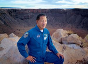 Ed Lu at Meteor Crater